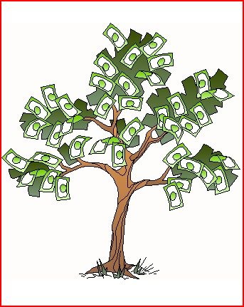 Cartoon rendering of money tree