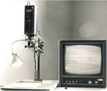 One of the first video magnifiers.