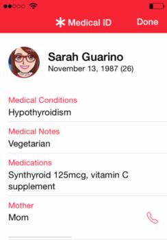 iPhone Medical ID