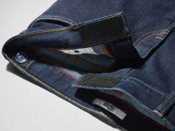 Photo of a pair of jeans with velcro instead of buttons