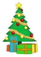 Picture of presents under a Christmas tree