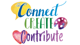 Picture of the words Connect Celebrate Contribute