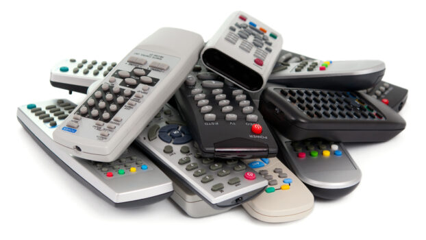 Pile of remote controls