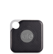 "Photo of small 1.5"" square black device with a hole to attach to key chain or purse"