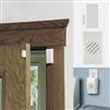 Open door with half of a sensor mounted to the door frame and other piece mounted on door