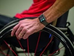 apple watch user in manual wheelchair