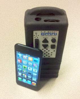 A picture of the iPod Touch and the IDMate Omni