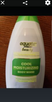 Equate Cucumber Body Wash with the text highlighted