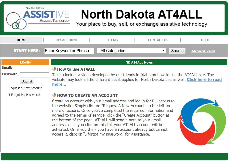 Screenshot of the NDAT4ALL website
