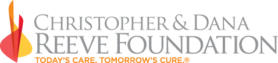 Christopher and Dana Reeve Foundation Logo, Today's Care, Tomorrow's CUre